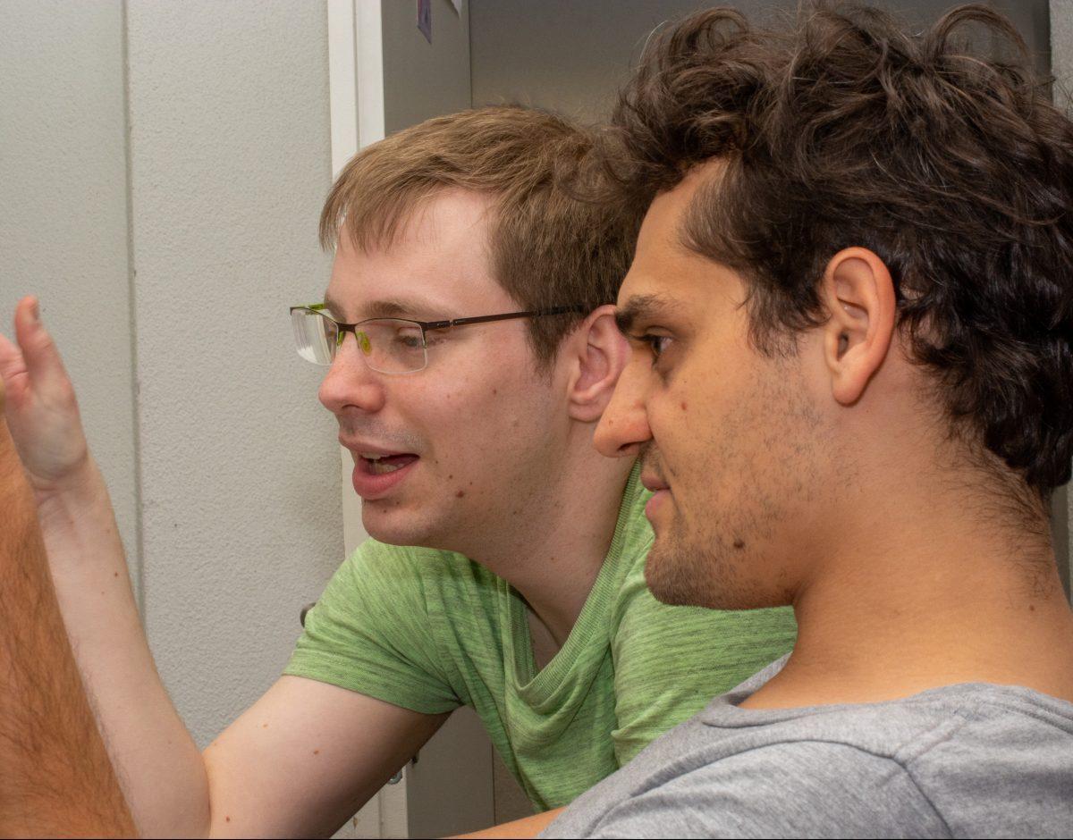 Christoph Müller, President SOSETH (Picture: Board members SOSETH: Maximilian Falkenstein (left) and Lukas Matthys)   ETH Centre for Students & Entrepreneurs